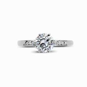 Vintage Brilliant Cut Engagement Ring 0.53ct EVS2 GIA